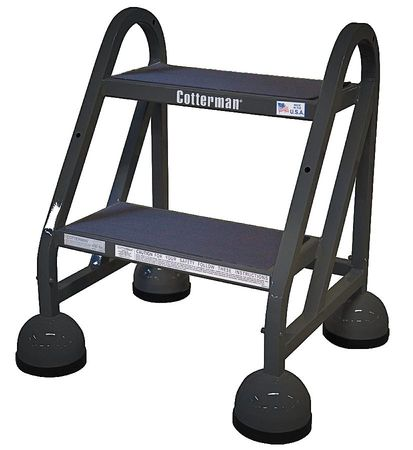 "18"" H Steel Rolling Ladder, 450 lb. Load Capacity"