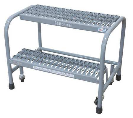 "20"" H Steel Safety Rolling Ladder, 450 lb. Load Capacity"