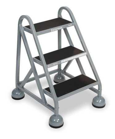 "27"" H Steel Rolling Ladder, 450 lb. Load Capacity"