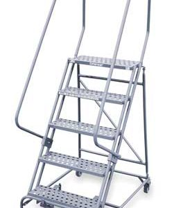 5 STEPS 50 H STEEL ROLLING LADDER 450 LB LOAD CAPACITY