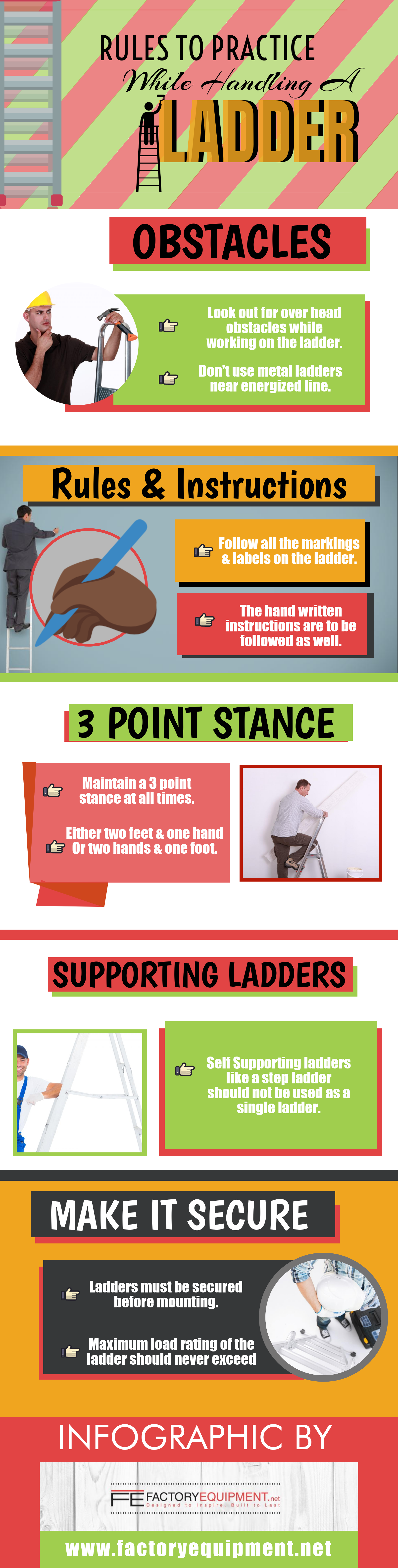 Rules to Practice While Handling A Ladder [ Infographic ]