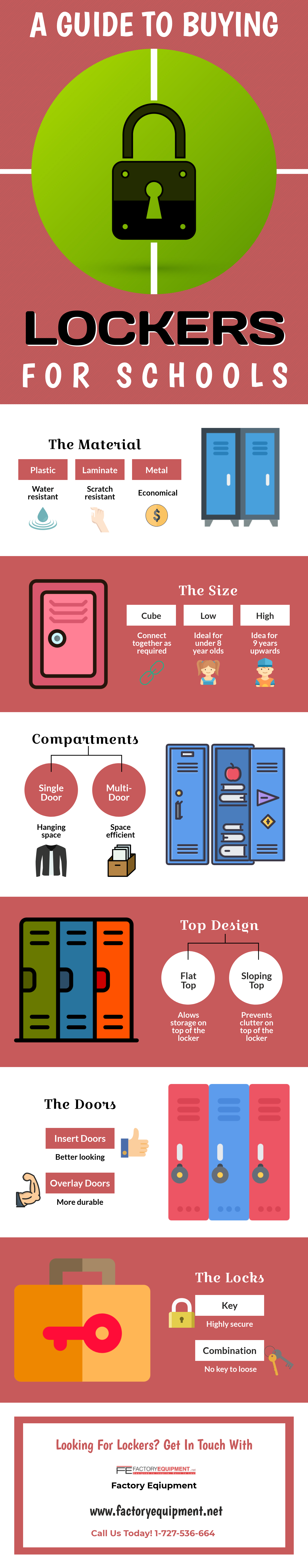 A Guide to Buying Lockers for Schools - [ Infographic ]