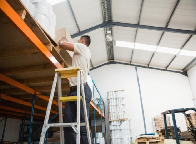 Various Equipment Used In Warehouses For Aerial Access