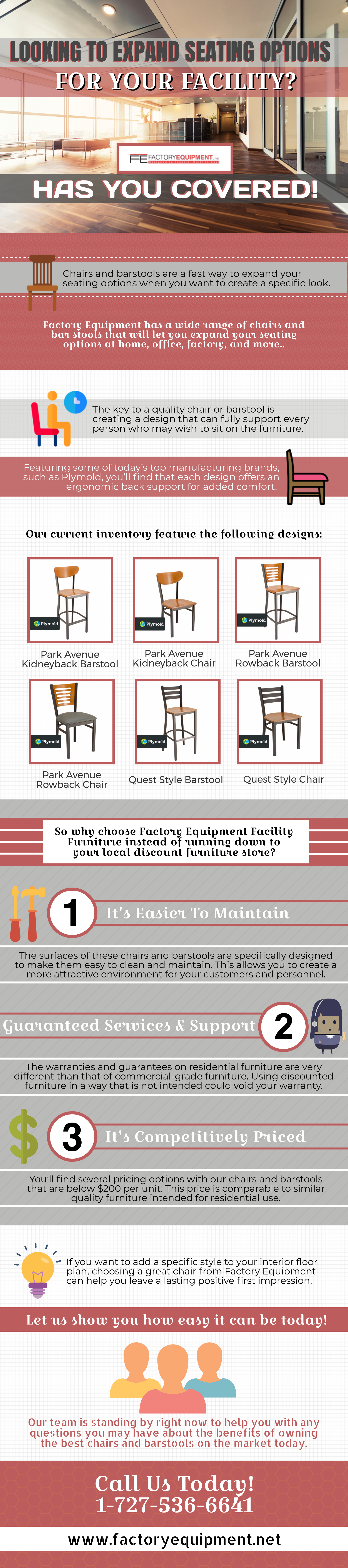 Looking To Expand Seating Options? Factory Equipment Has You Covered